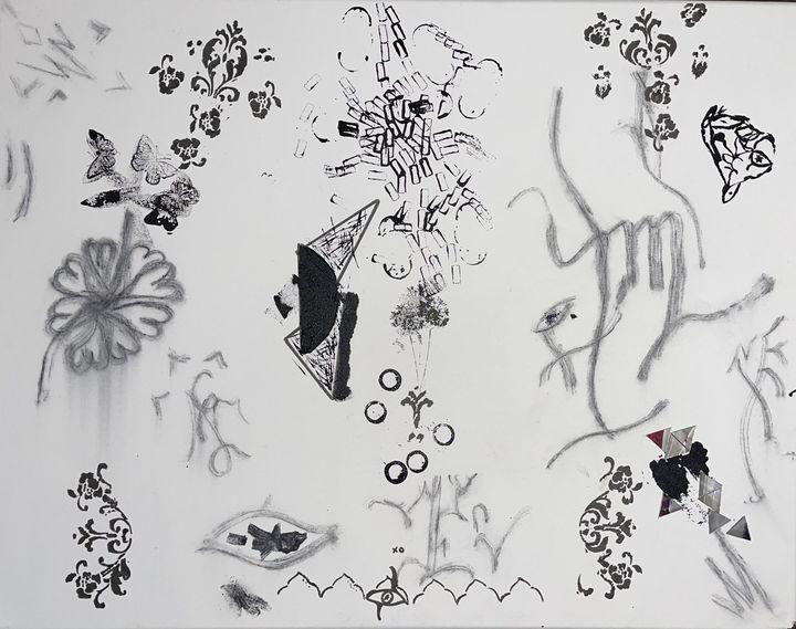 The Begging woman - Malick Isaac -IG Isaac_artwork