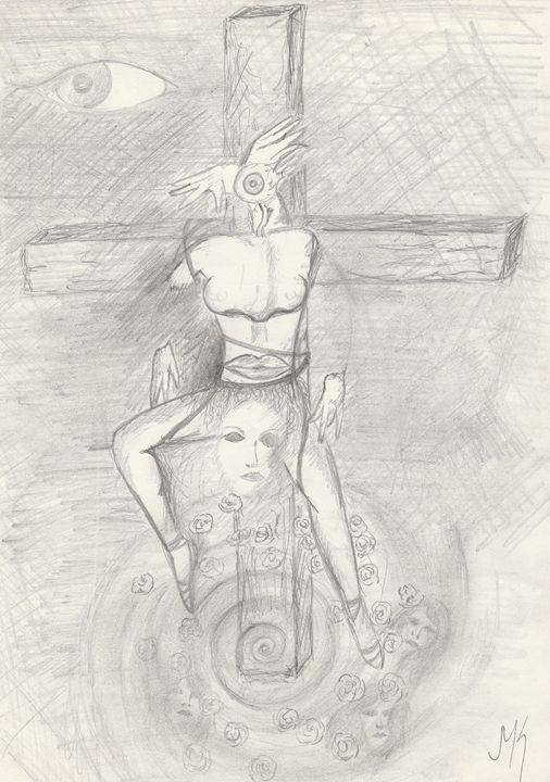 Chemin de croix. - jean-marc kéraudren
