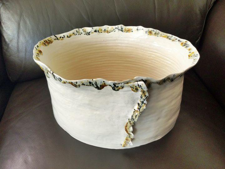 Flower Bowl - Wood Family Art