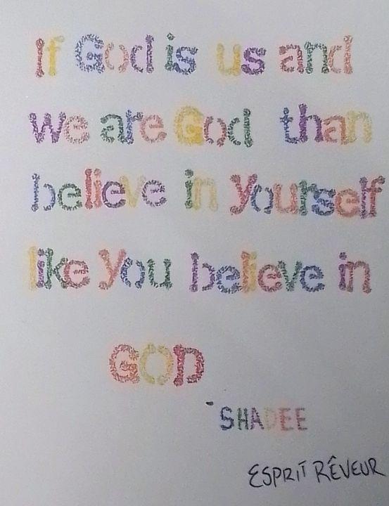 BELIEVE IN YOURSELF - Esprit Rêveur