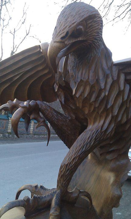 Wood carved eagle wood sculptures sculptures carvings