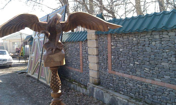 wood carving eagle - Wood sculptures