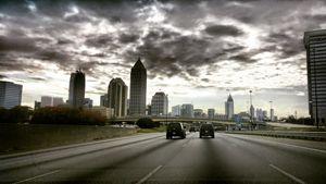 Entering Atlanta on a cloudy day.