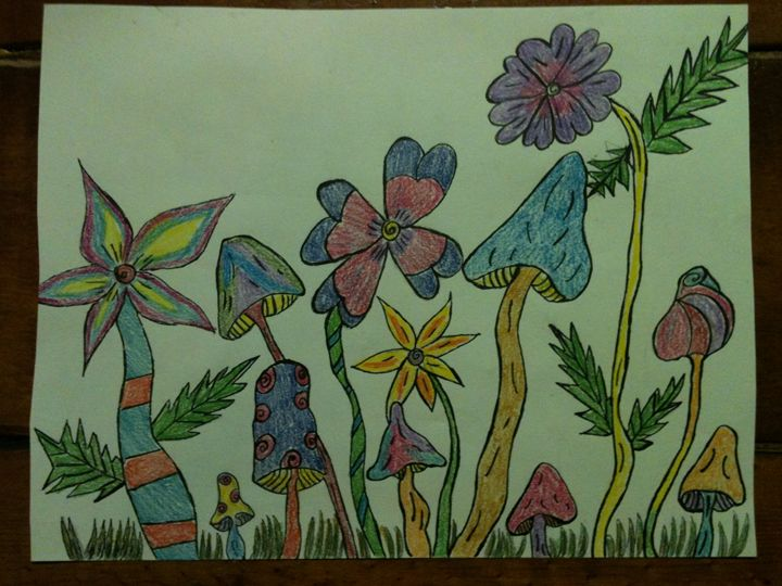 Trippy shrooms - Art by Bobbi