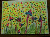 blacklight paint trippy shrooms