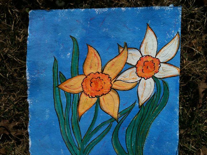 Daffodils - Art by Bobbi
