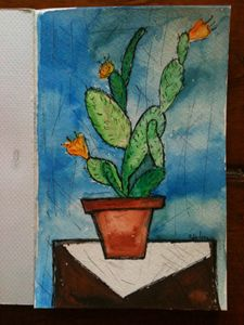 Ink and watercolour