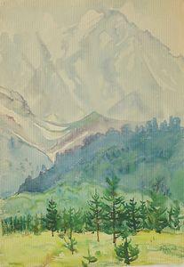 Caucasian mountains. Nakra-Tau