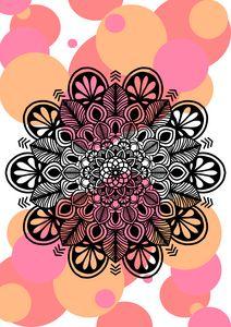 Mandala On Abstract Background