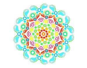 Colorful Dot Mandala