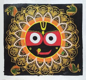 Lord jagannath face Canvas Painting