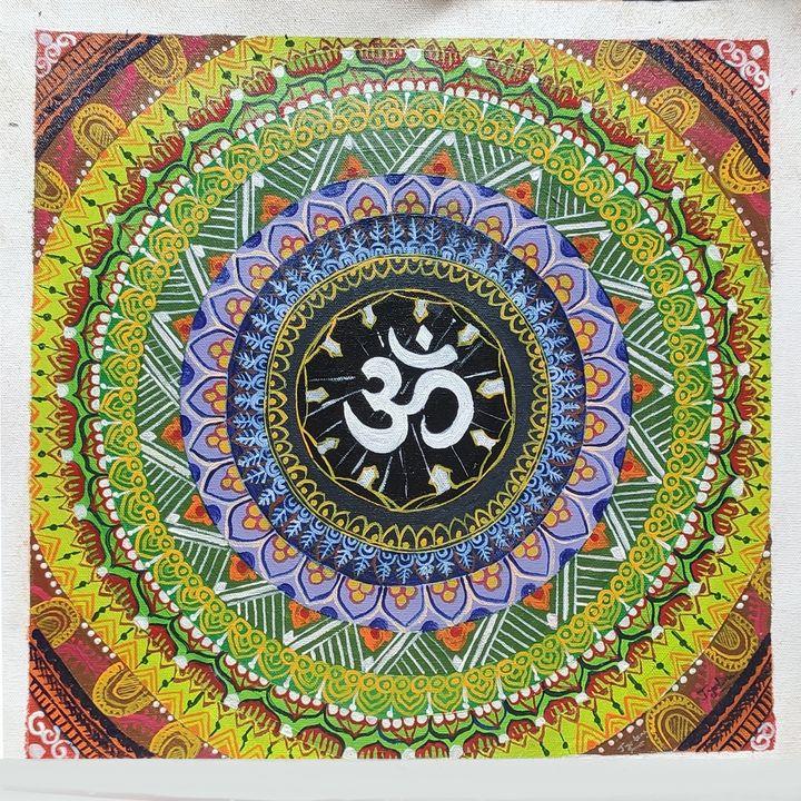 Om symbol Acrylic Canvas Painting - JoshArtistic