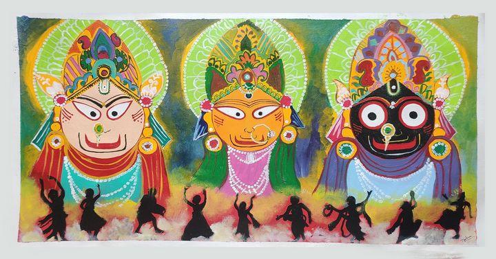 Lord jagannath canvas painting - JoshArtistic