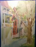 Orig.  Watercolor  framed and matted