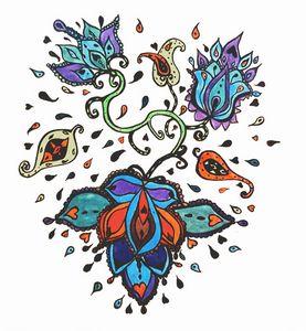 Hand Sketched Flower design