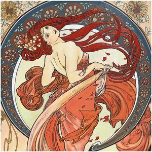 """Alfons Mucha  """"The Arts-Dance """""""
