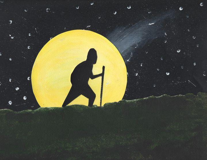 The Hiker - Yacky Art