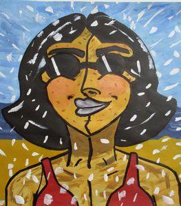 The Happy Beachgoer - Yacky Art