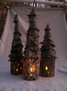 Flickering Lighted Trees Trio #2