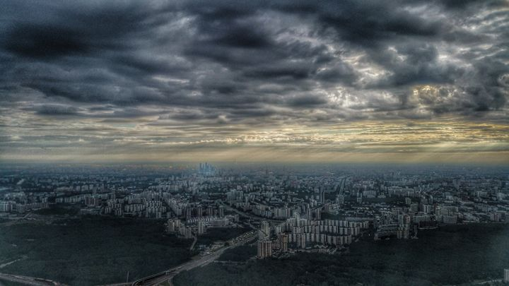 View of Moscow from bird's-eye view - AG Photo Studio