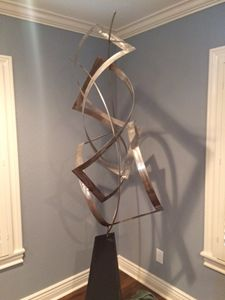 Brushed Steel Sculpture