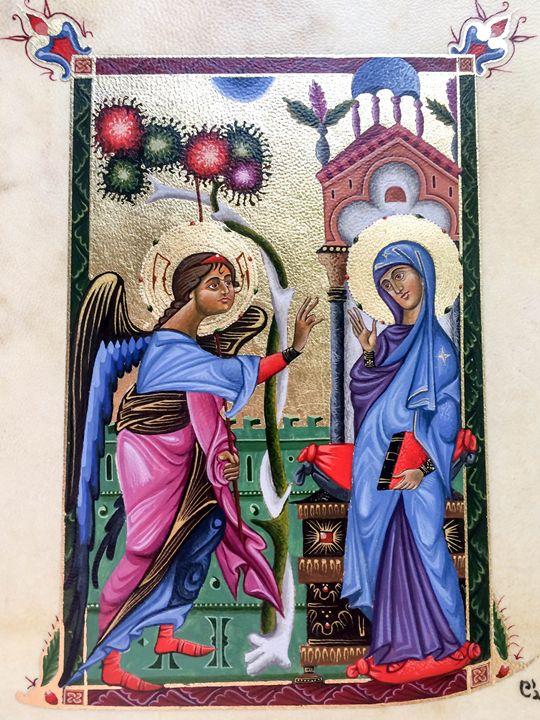 Annunciation - Armenian Miniatures