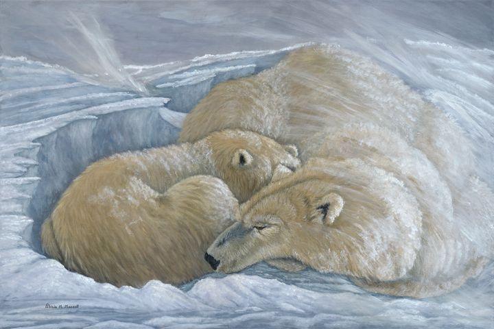 WINDSWEPT (Polar Bears) - Patricia Mansell