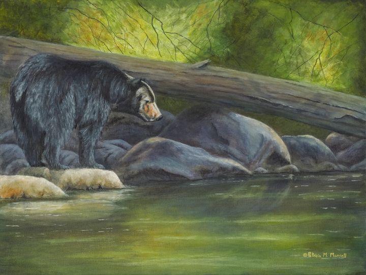 Water's Edge (Black Bear) - Patricia Mansell