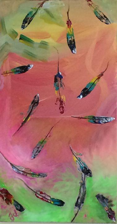 Falling Feathers - Judydcreates