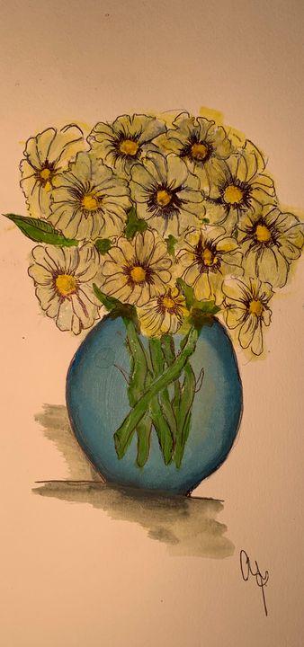Pot of Daisies - Caroline's Corner
