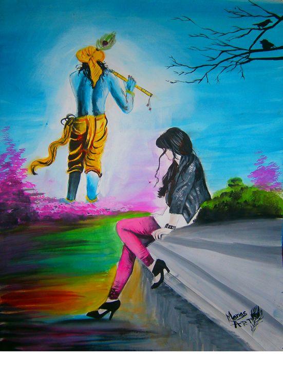 Krishna love - mona's art