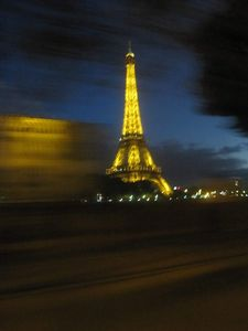 Eiffel Tower Glowing Bright