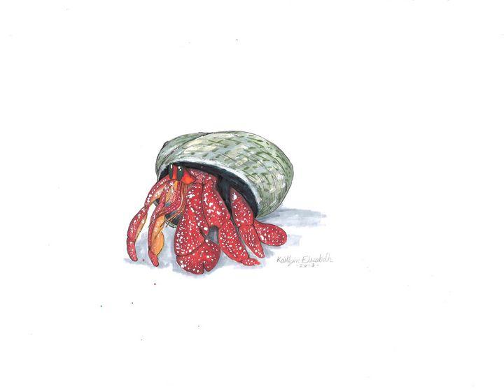 Strawberry Hermit Crab - Kaitlyn Elizabeth