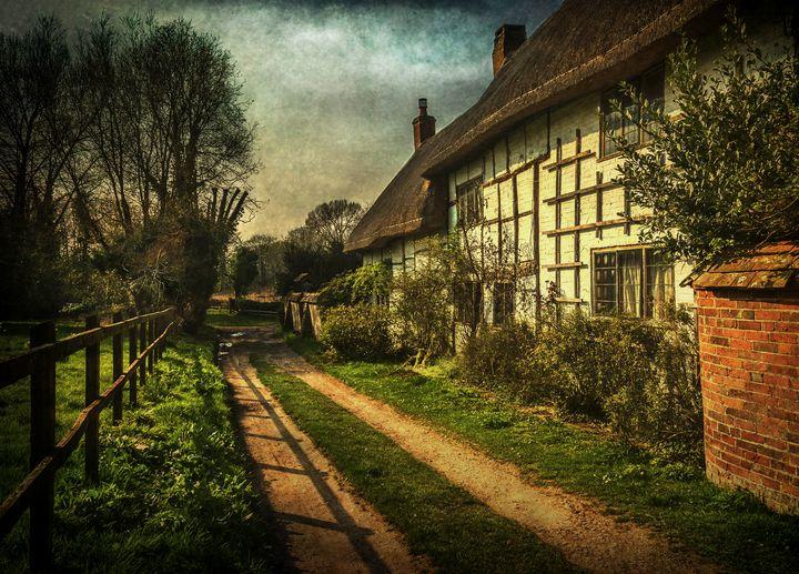 A Lane in Blewbury - Ian W Lewis