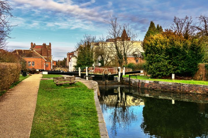 Town Lock Newbury - Ian W Lewis