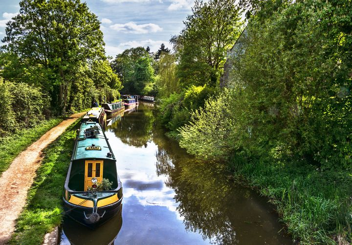 Boats On The Oxford Canal - Ian W Lewis