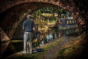 Artist At Pewsey Bridge