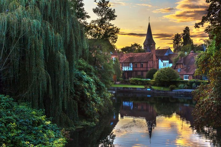 Early Evening  Whitchurch on Thames - Ian W Lewis