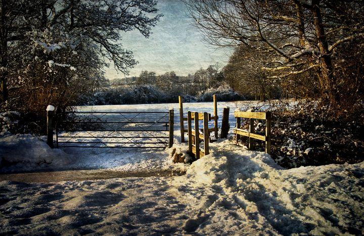 A Snowy Day In Tidmarsh - Ian W Lewis