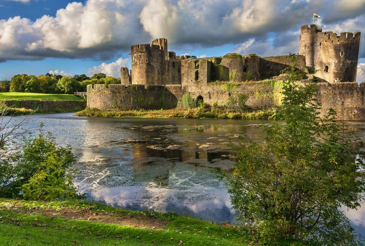 Caerphilly Castle Moat - Ian W Lewis