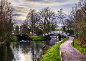 Footbridge By The Lock
