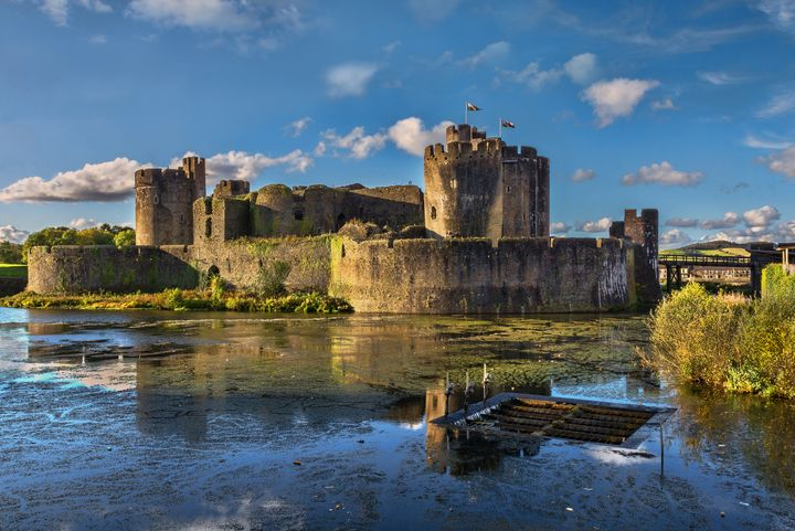 Caerphilly Castle South Facing Walls - Ian W Lewis