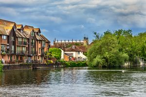Eton College Chapel From The Thames