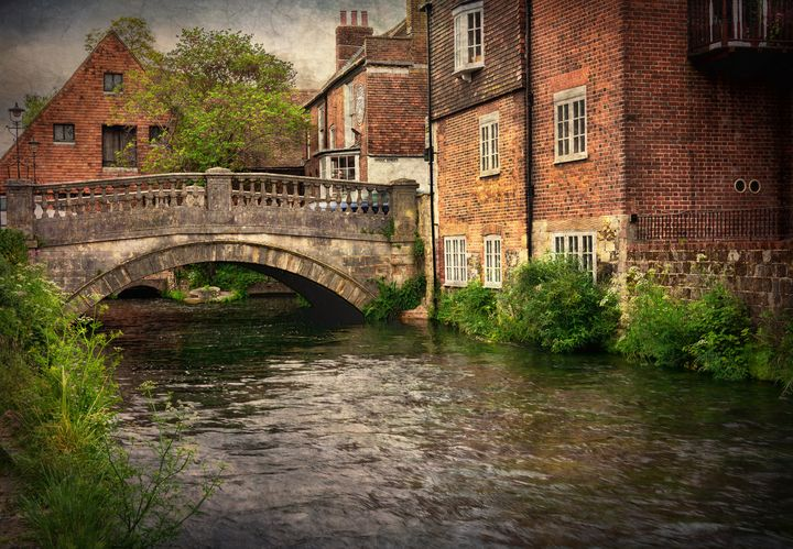 Winchester City Bridge and Mill - Ian W Lewis