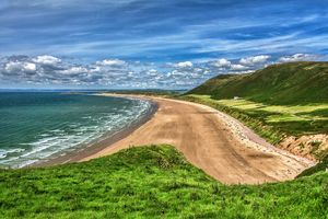 Rhossili Bay On The Gower Peninsula