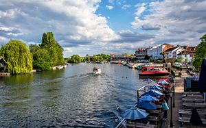 View Upriver From Henley Bridge