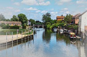 The River Avon At  Tewkesbury