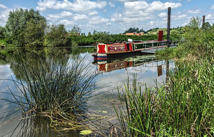 Moored on the Avon At Tewkesbury - Ian W Lewis