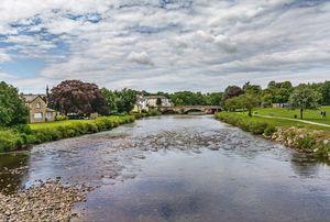 River Derwent Flowing Through Cocker