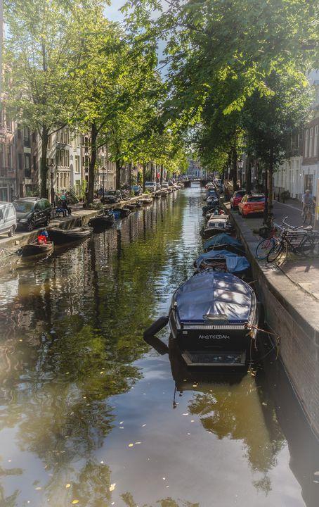 A Street In Amsterdam - Ian W Lewis